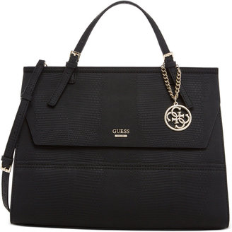 Guess Huntley Top-Handle Flap-Front Satchel $118 thestylecure.com