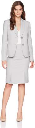 Le Suit LeSuit Women's Herringbone 2 Bttn Shawl Collar Skirt