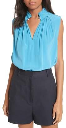 Tibi Arielle Sleeveless Silk Top
