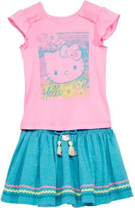 Hello Kitty Toddler Girls 2-Pc. Graphic-Print Top & Skirt Set