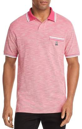 Psycho Bunny Thornton Stripe-Trimmed Classic Fit Polo Shirt