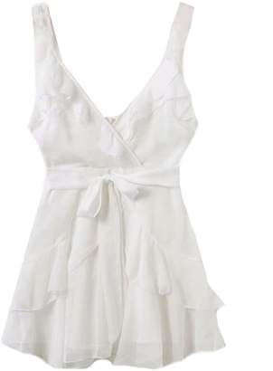Goodnight Macaroon 'Rosa' Frilled Waist Tied Wrap Mini Dress (3 Colors)
