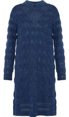 M Missoni Jacquard-Knit Shirt Dress