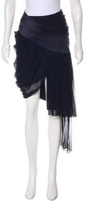 Prabal Gurung Silk Midi Skirt