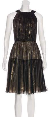 Sophie Theallet Silk Pleated Dress