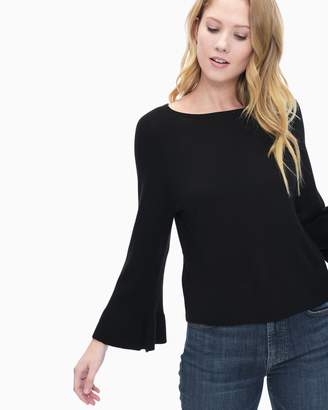 Splendid Cashmere Blend Ruffle Sleeve Pullover