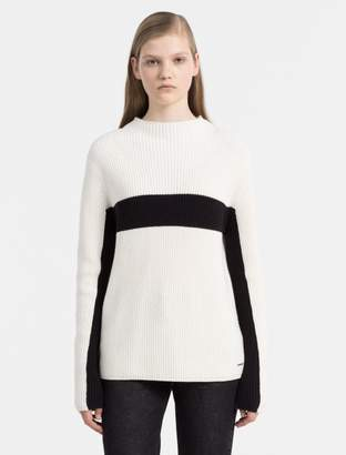 Calvin Klein cotton cashmere stripe sweater