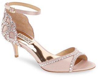 Women's Badgley Mischka 'Gillian' Crystal Embellished D'Orsay Sandal $225 thestylecure.com
