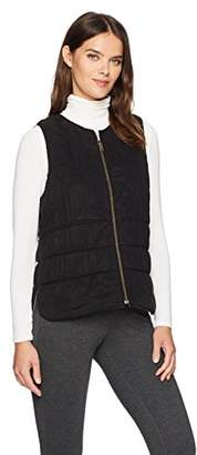 Three Dots Women's Reversible Quilted Loose Short Vest