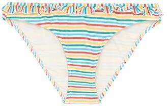 Solid & Striped 'The Milly' ruffle stripe seersucker bikini bottoms