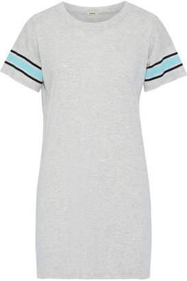 Monrow Striped Slub-Jersey Mini Dress
