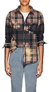 NSF Women's Bara Distressed Plaid Cotton Flannel Shirt