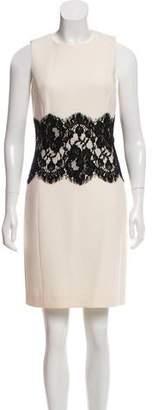 Michael Kors Lace-Trimmed Wool Dress