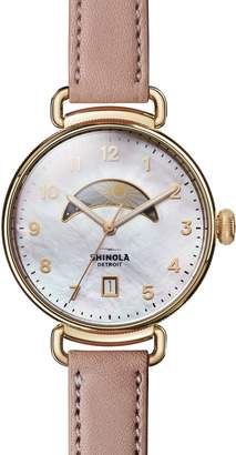 Shinola The Canfield Leather Strap Watch, 38mm