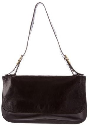 Miu MiuMiu Miu Glazed Leather Shoulder Bag
