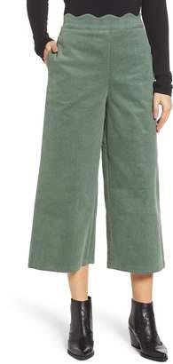 BP Corduroy Scallop Waist Wide Leg Pants