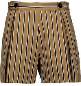 Sandro Pendy Striped Cotton-Blend Shorts $210 thestylecure.com
