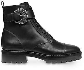 MICHAEL Michael Kors Women's Frieda Buckle Leather Combat Boots