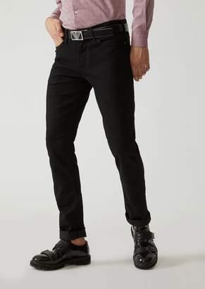 Emporio Armani Slim Fit J06 Jeans In Stretch Cotton Eco-Denim