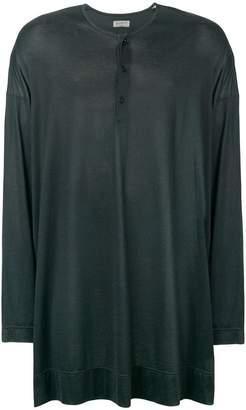 Yohji Yamamoto face back print oversized T-shirt