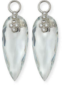 Jude Frances Provence 18K Teardrop Topaz Earring Charms with Diamonds