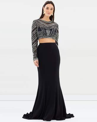 Roma Long Sleeve Crop and Maxi Skirt
