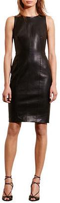 Lauren Ralph Lauren Faux-Leather Sheath Dress $164 thestylecure.com