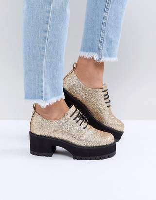 Asos DESIGN OMEGA Chunky Lace Up Heels