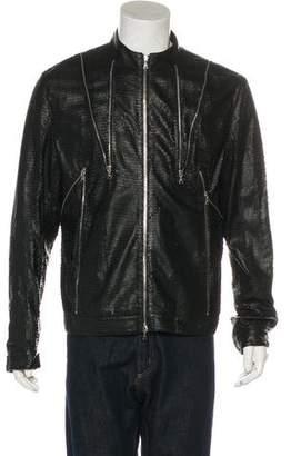John Richmond Lambskin Zip-Up Jacket