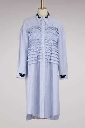 Simone Rocha Smocked Shirt Dress