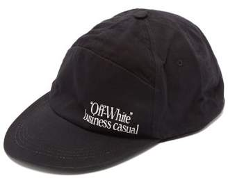 Off-White Off White Business Casual Cotton Cap - Mens - Black