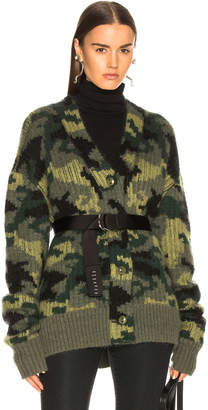 Proenza Schouler Pswl PSWL Camo Jacquard Cardigan in Military Multicolor | FWRD