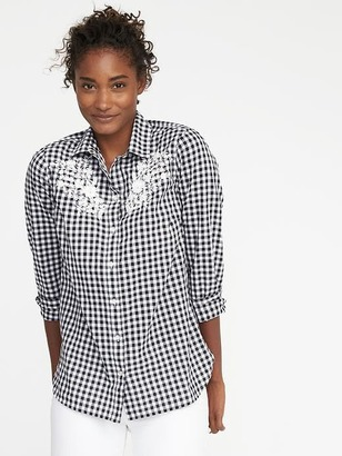Classic Gingham Shirt for Women $26.99 thestylecure.com
