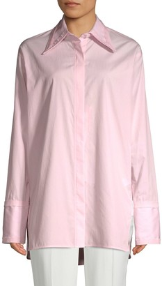 Helmut Lang Cut-Out Cotton Button-Down Shirt