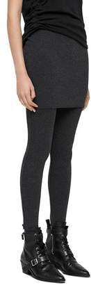 AllSaints Raffi Rib-Knit Skirted Leggings