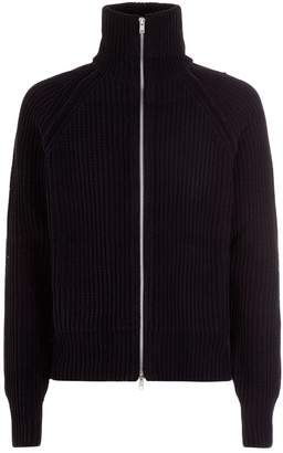 Maison Margiela Velvet Zip Up Cardigan