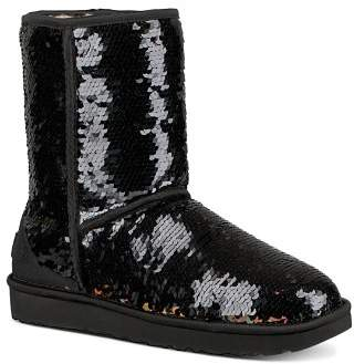 UGG Women's Classic Round Toe Sequin Short Boots