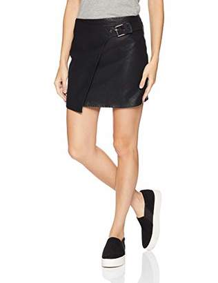 Jack by BB Dakota Junior's Fashion Killa Textured Vegan Leather Skirt with Side Buckle