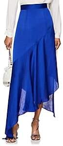 Juan Carlos Obando Women's Washed Satin Asymmetric Skirt-Colbalt Blue