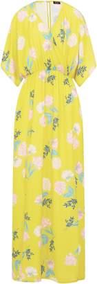 Dorothy Perkins Womens **Girls On Fim Yellow Printed Pebble Crepe Maxi Dress