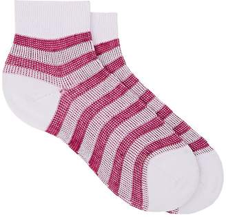 Maria La Rosa Women's Striped Cotton-Blend Ankle Socks