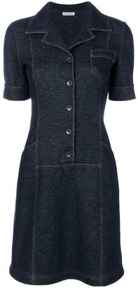 Tomas Maier knit denim dress