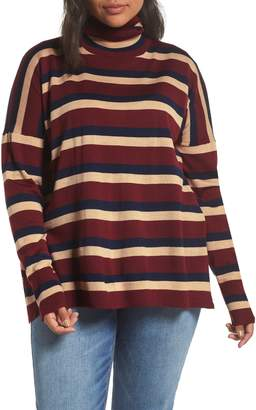 J.Crew Stripe Turtleneck Boyfriend Sweater