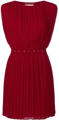 Saint Laurent short pleated dress