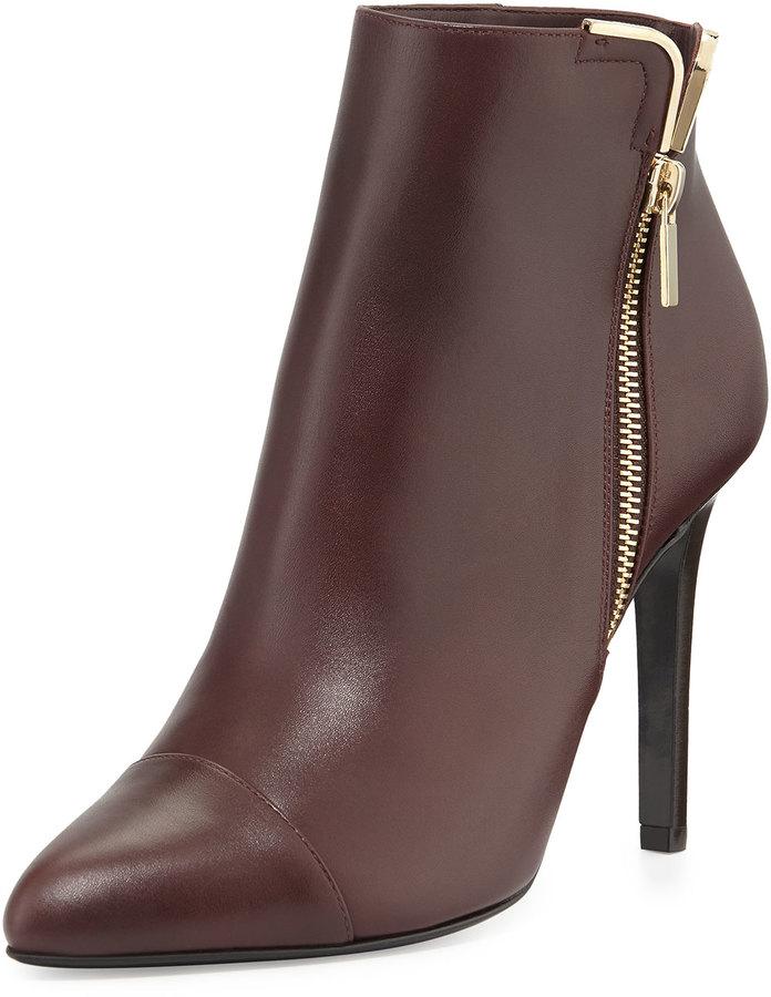 Lanvin Cap-Toe Metal-Trim Ankle Boot