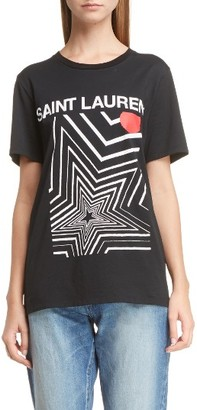 Women's Saint Laurent Graphic Tee $390 thestylecure.com