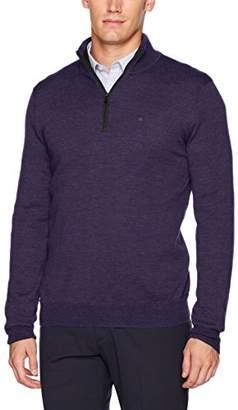 Calvin Klein Men's Merino Quarter Zip Sweater
