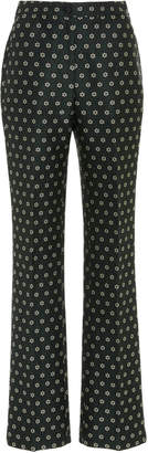 ALEXACHUNG Kick-Flare Tailored Jacquard Trouser