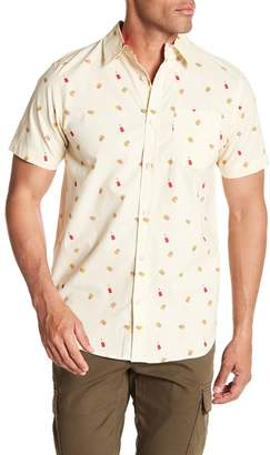 Straight Faded French Fry Short Sleeve Modern Fit Shirt