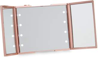 Co Impressions Vanity Trifold Compact LED Makeup Mirror with Stand
